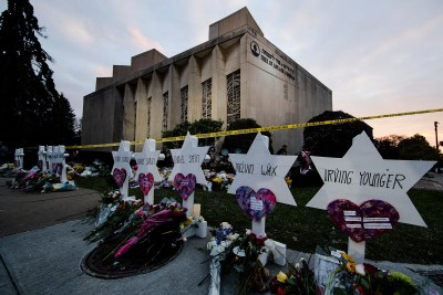 Tree of Life Synagogue memorial.