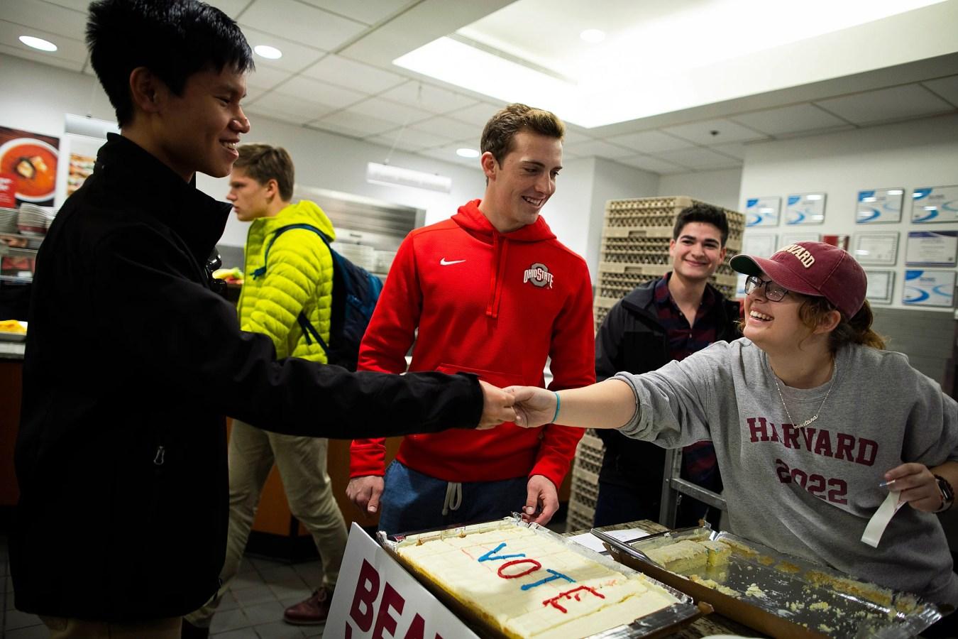 Harvard voter registration drive.