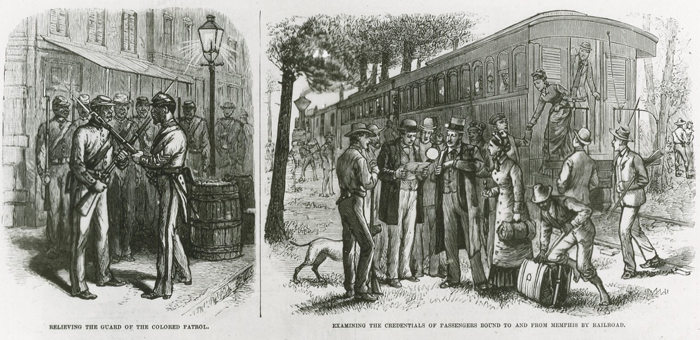 Selected scenes of Memphis, Tennessee under quarantine during a yellow fever outbreak. Frank Leslie's Illustrated Newspaper, September 20, 1879.
