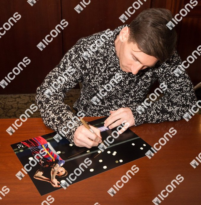 Lionel Messi Signing Photos For Icons.com