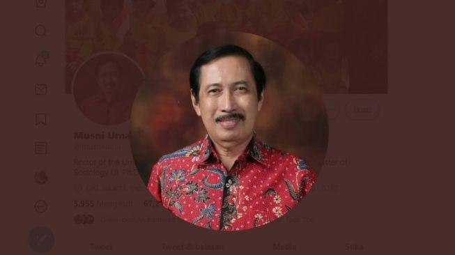 Rektor UIC Musni Umar (Foto: Twitter/Suara.com)