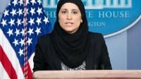 Heboh, Pejabat AS Pakai Jilbab Saat Konferensi Pers di Gedung Putih
