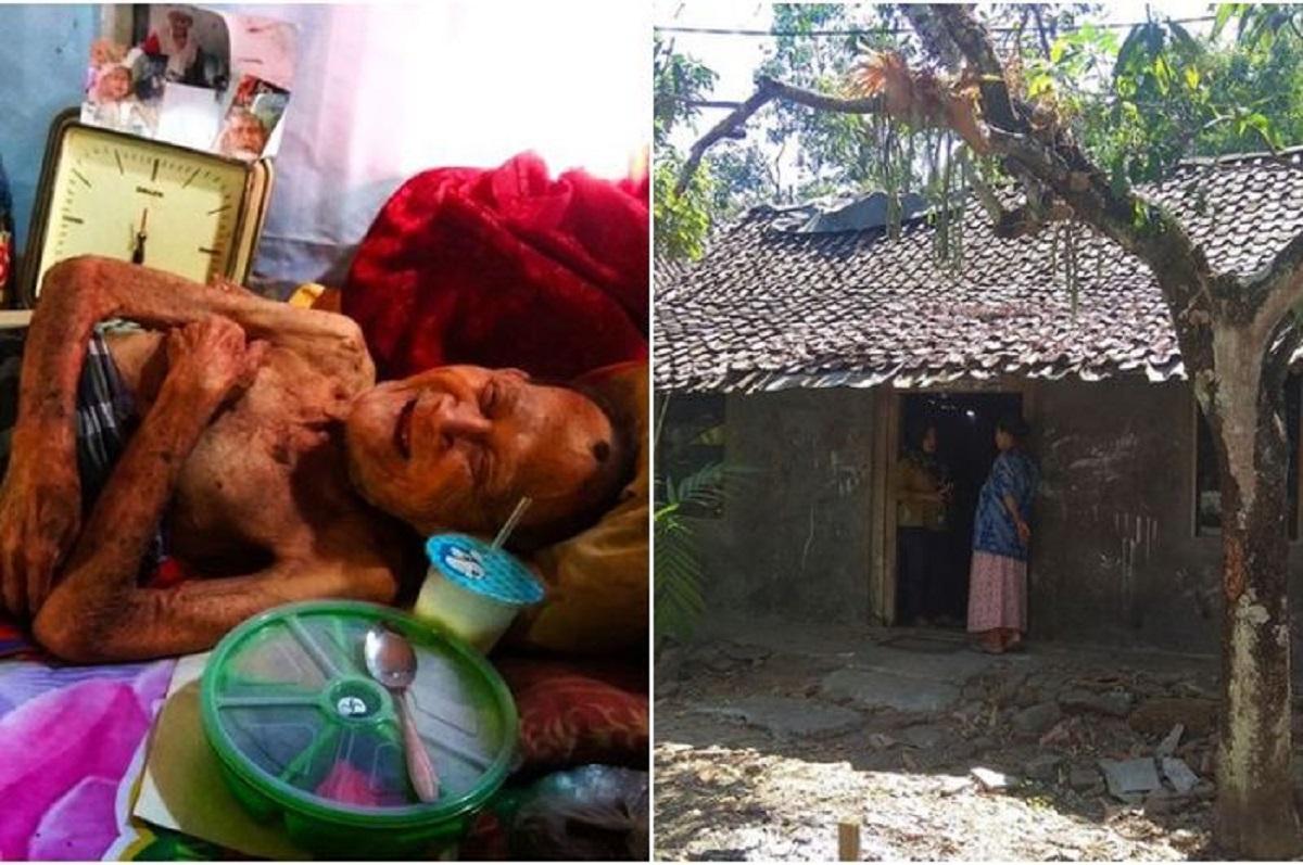 Kisah Sedih Seorang Kakek Lumpuh yang Ditelantarkan Anaknya karena Sakit-sakitan hingga Tak Pernah Mandi 9 Bulan