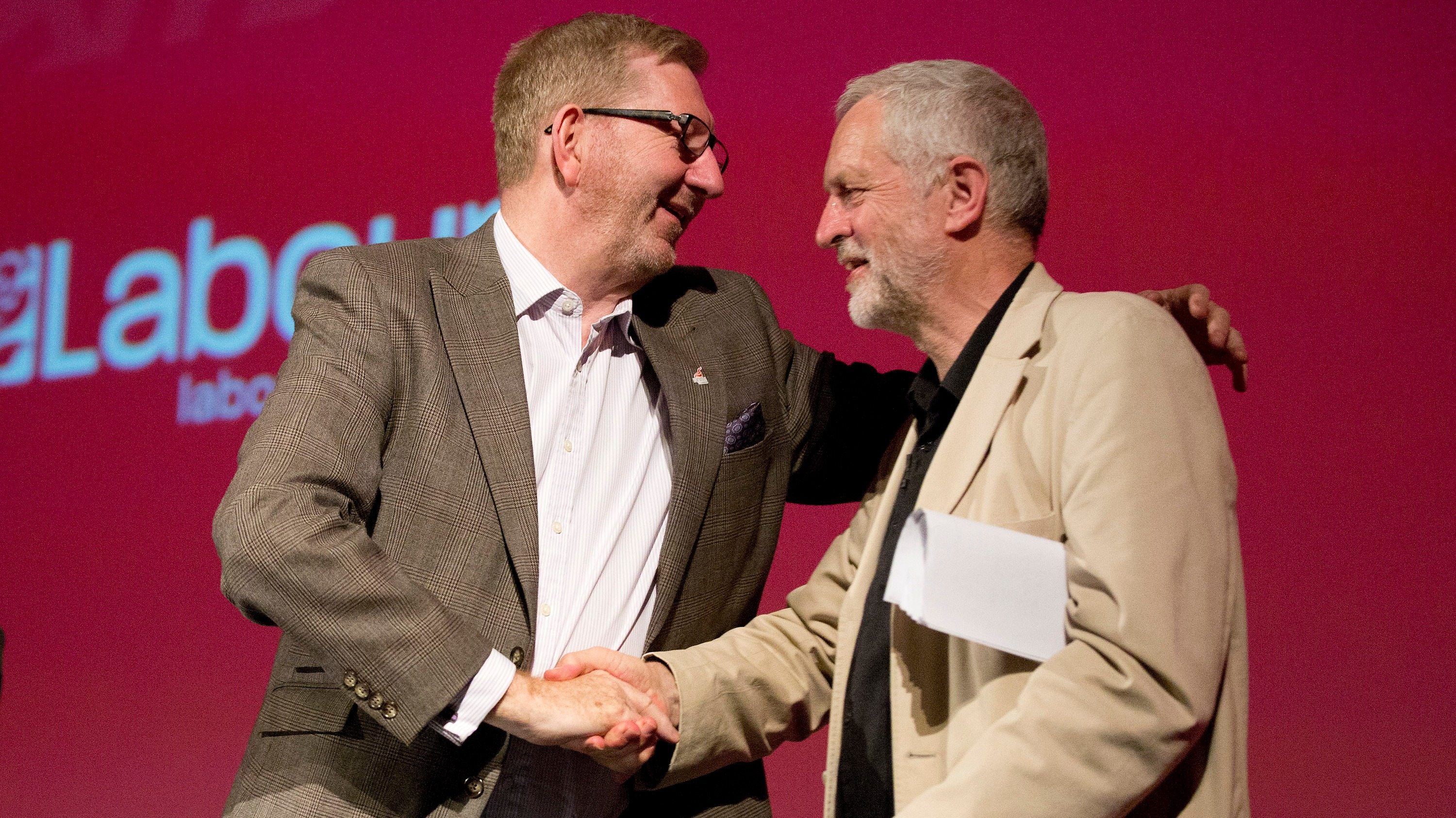 Image result for picture Jeremy Corbyn Len McCluskey