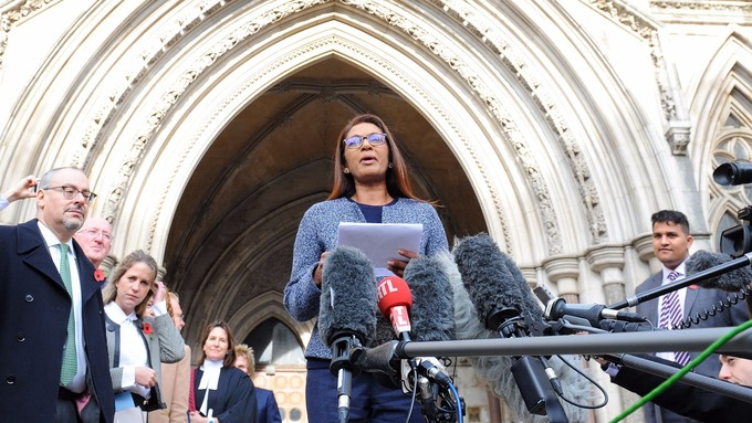 Image result for image of gina miller outside of the high court