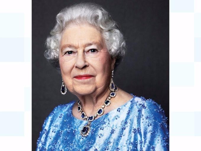 A portrait of Queen Elizabeth by photographer David Bailey.