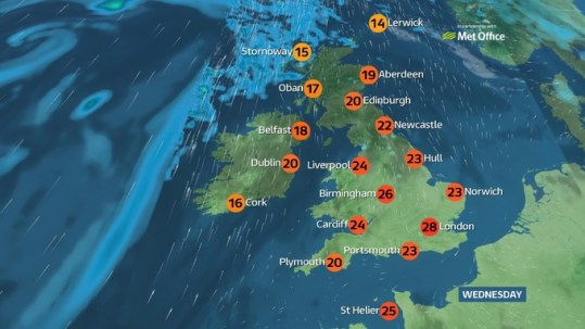 Mostly warm and dry with cloudier conditions in Scotland and     Mostly warm and dry with cloudier conditions in Scotland and Northern  Ireland  Weather