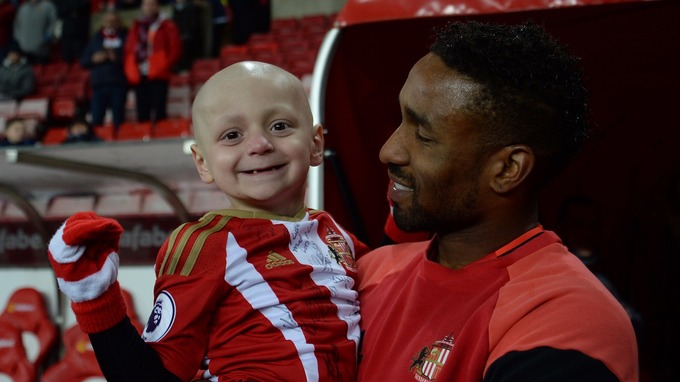 Bradley Lowery formed a close friendship with Premier League star Jermain Defoe after being mascot at Sunderland.