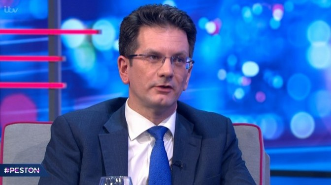 Steve Baker said the Tories are now 'grinding miserably forwards'. Credit: ITV/Peston