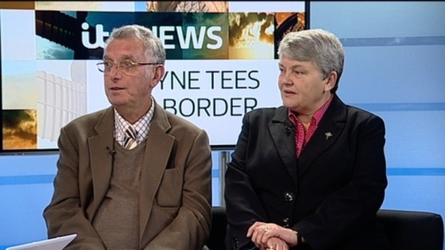 Ken Clasper durante un'intervista televisiva