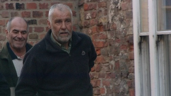 Allen Lambert arrives at King's Lynn Magistrates this morning.