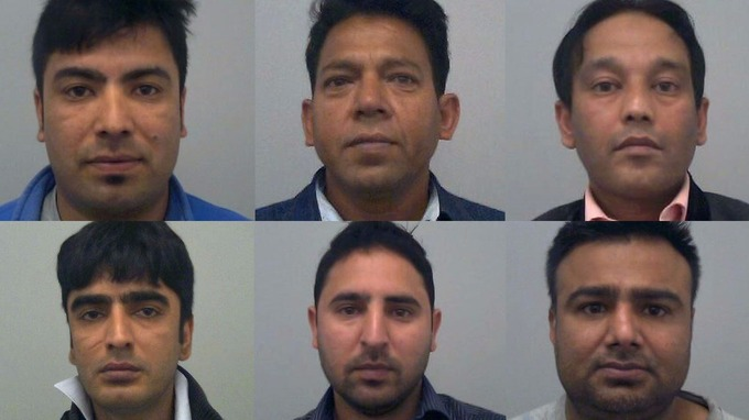 Clockwise from top left: Taimorr Khan, Vikram Singh, Mohammed Imran, Asif Hussain, Arshad Jani and Akbari Khan.