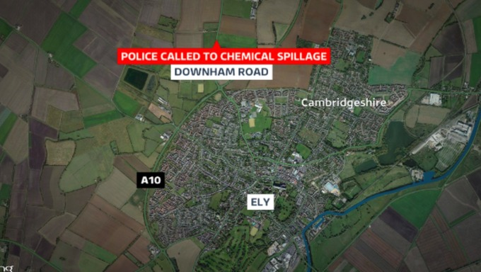 Police called to chemical spill in Ely
