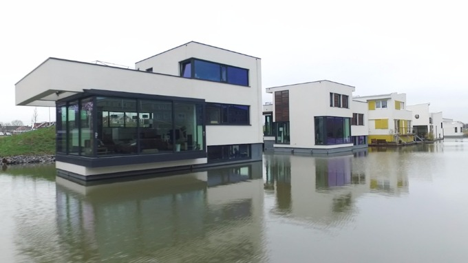 Architects in Delft have designed homes that float.