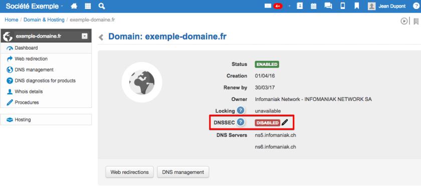 Activer DNSSEC chez Infomaniak
