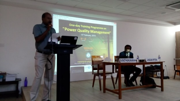 SITRA Mr. MuthuKumaran delivering welcome speech