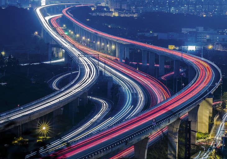 На Тайване байкеры протестуют за право езды по автостраде