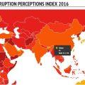 Тайвань на 31 месте в Индексе восприятия коррупции