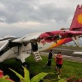 Жёсткая посадка самолёта в аэропорту острова Орхидей