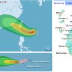 Тайфун Хато приближается к берегам Тайваня