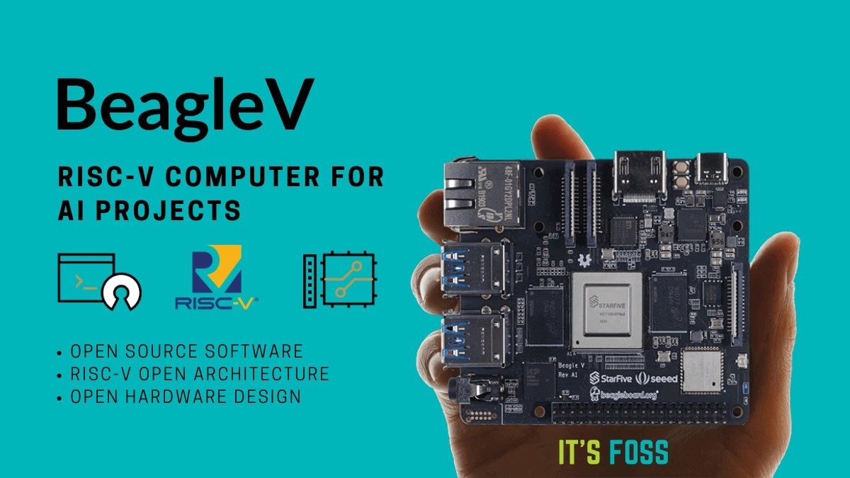 beaglev single board computer based on RISC-V
