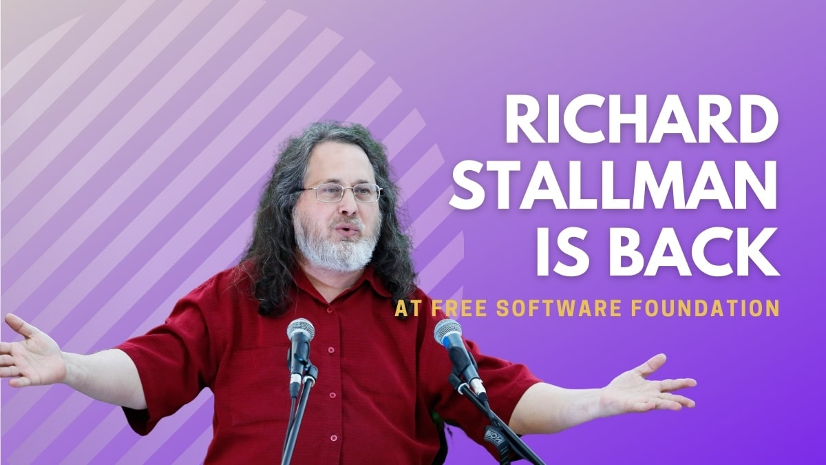 Richard Stallman is back at FSF