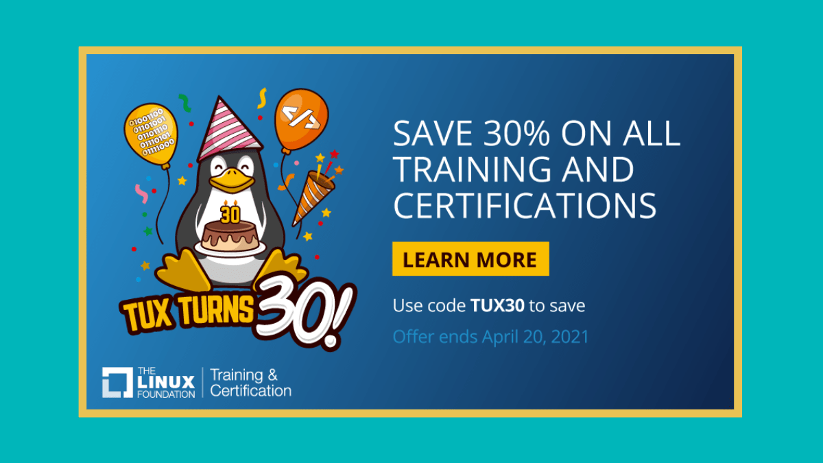 Linux Foundation Tux 30 sale