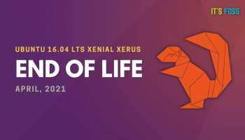 Ubuntu 16.04 End of Life