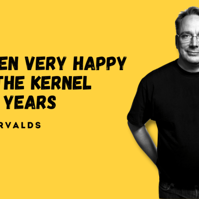 Linus Torvalds on 30 years of Linux kerne