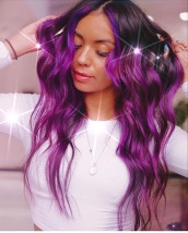 Valeria Guerrero show off her vibrant purple hair in photo she shared to Instagram page on a Dec. 3. This change is the latest of Guerrero's experiments with her hair. Guerrero initially tried a blonde-silver-like color.