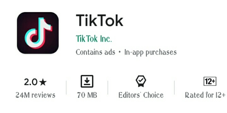 Tik Tok rartings dropped