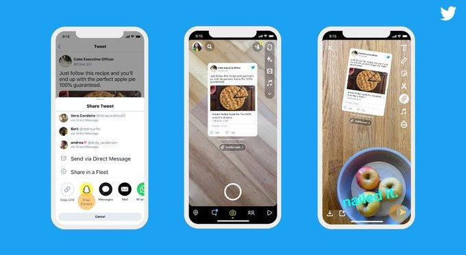 Twitter snapchat integration