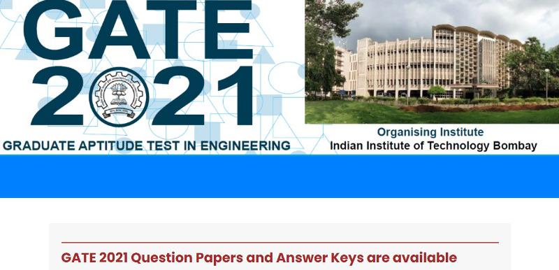 GATE 2021 Answer key