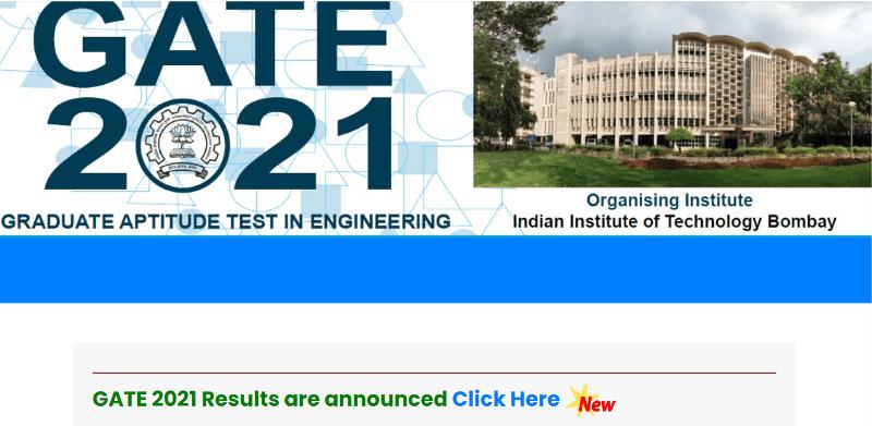 GATE 2021 Result