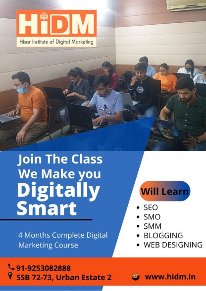 Online Digital Marketing Course in Hisar | Digital marketing Course in Hisar