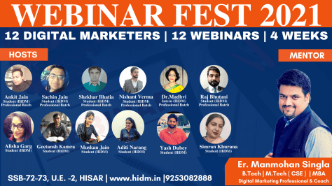 Webinar fest 2021 launched by HiDM