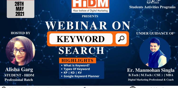 webinar on keyword search