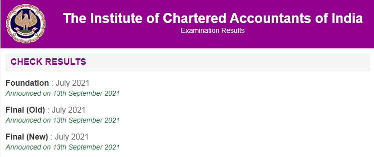 ICAI CA Final and foundation results