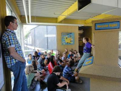 Children learn about recycling at Eco-Cycle in Boulder