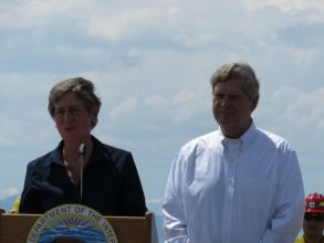 Agriculture Secretary Tom Vilsack and Interior Secretary Sally Jewell