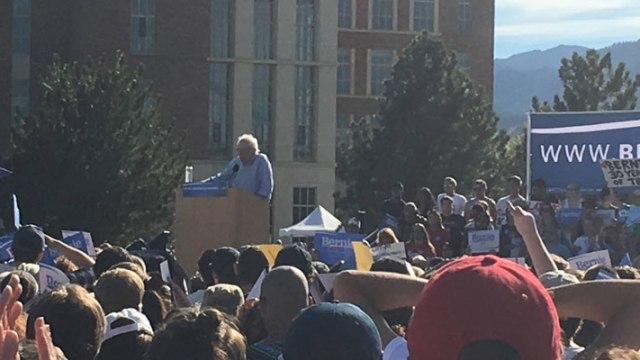 Bernie Sanders in Boulder