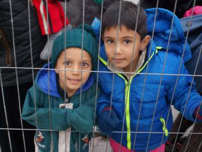 Refugee Children at Austria-Hungary Border