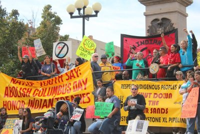Abolish Columbus Day Rally, Pueblo, October 8, 2012.