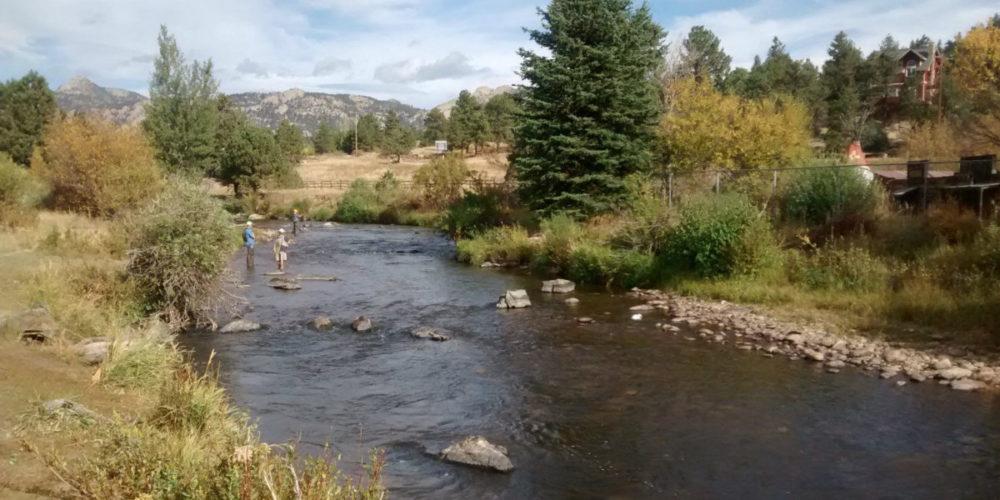Big Thompson River in Estes Park, CO