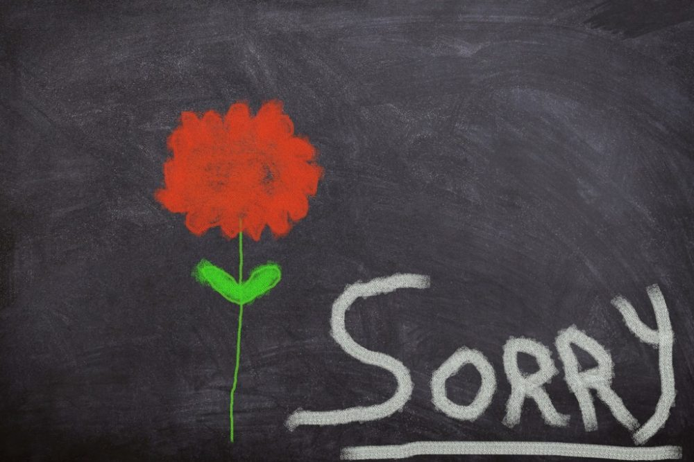 Commentary: Saying Sorry