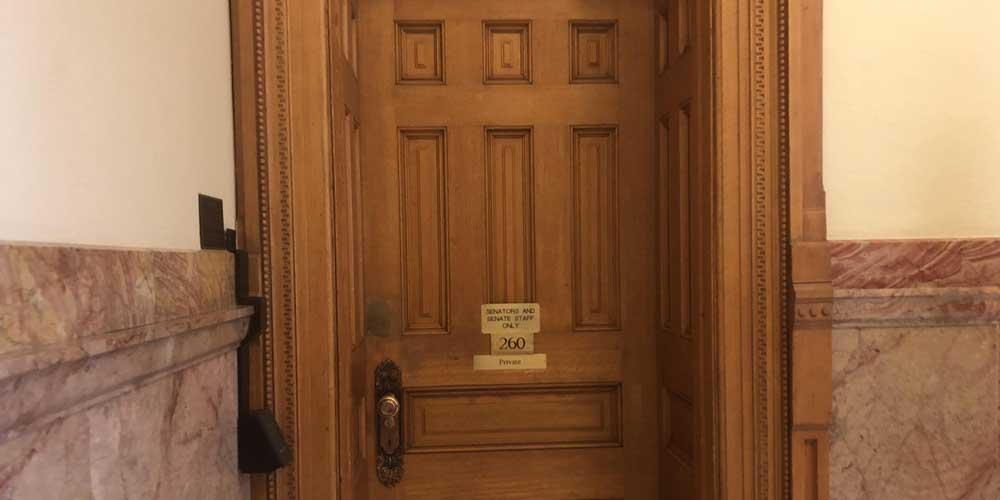 capitol restroom door