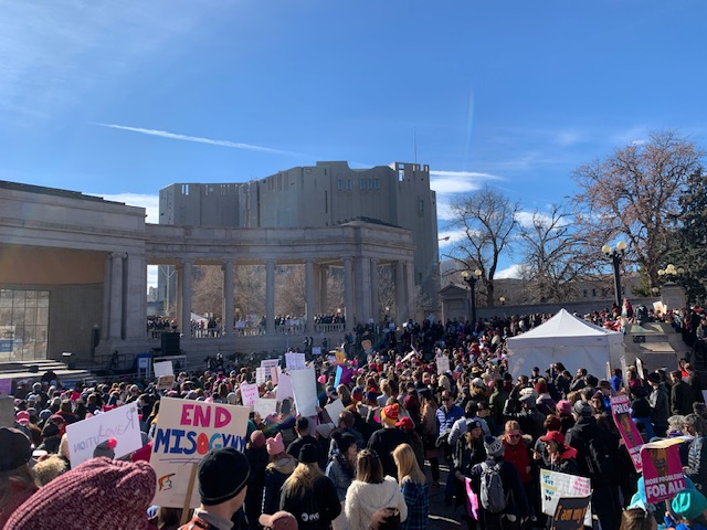 Womxn's March Brings Tens of Thousands to Denver Streets