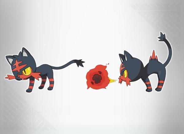 Starter Pokémon Flamiau