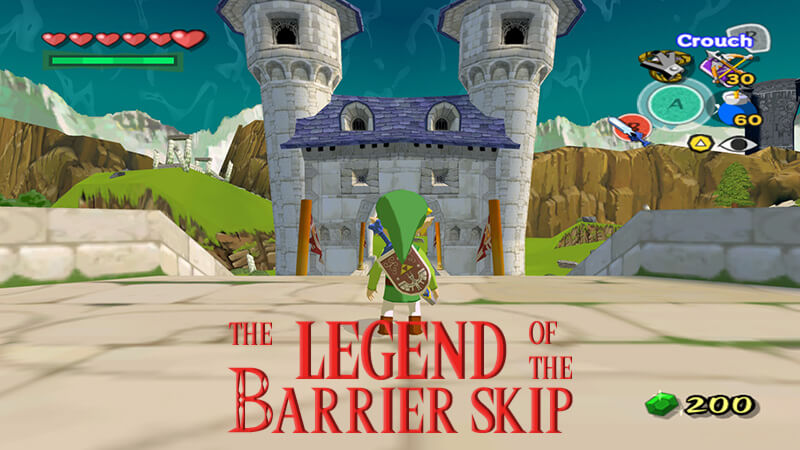 Zelda Wind Waker Barrier Skip
