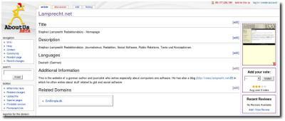 Das Wiki AboutUs